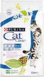 Сухой корм для кошек Cat Chow 3in1 с домашней птицей и индейкой 1.5кг