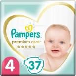 Подгузники Pampers Premium Care 9-14кг Размер 4 37шт