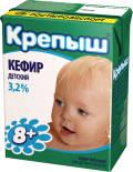 Кефир детский Крепыш 3.2% 200г