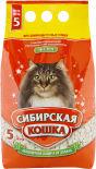 Наполнитель для кошачьего туалета Сибирская кошка Экстра для длинношерстных кошек впитывающий 5л