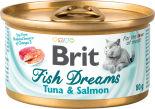 Корм для кошек Brit тунец и лосось 80г