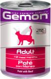 Корм для кошек Gemon Cat паштет говядина 400г