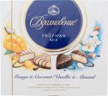 Набор конфет Вдохновение Fruzipan Mix с дробленым миндалем и ароматом ванили с манго и кокосом 175г