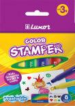 Фломастеры-штампы Luxor Color Stamper смываемые 8 цветов
