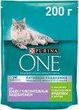 Сухой корм для кошек Purina One с чувствительным пищеварением с индейкой и рисом 200г