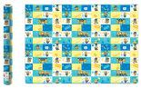 Бумага упаковочная Minions голубая с желтым 70*100см 2шт