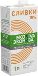 Сливки ЭкоНива Из молока высшего сорта 10% 1л