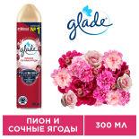 Освежитель воздуха Glade Пион и Сочные Ягоды 300мл