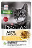 Влажный корм для стерилизованных кошек Pro Plan Nutri Savour Sterilised кусочки в соусе с курицей 85г