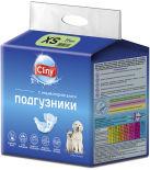 Подгузники для животных Cliny S 3-6кг 10шт