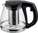 Чайник заварочный Agness с фильтром черный 1.1л