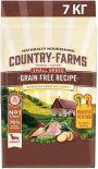 Сухой корм для собак мелких пород Country Farms Grain Free Reсipe с индейкой 7кг