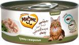 Корм для кошек Мнямс Тунец с макрелью в нежном желе 70г