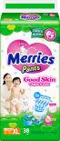 Подгузники-трусики Merries Good skin XL 12-19кг 38шт