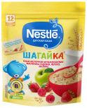 Каша Nestle Молочная Шагайка 5 злаков Малина Яблоко Земляника 200г