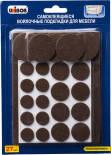 Подкладки Unibob самоклеящиеся войлочные для мебели 27шт