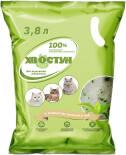 Наполнитель для кошачьего туалета Хвостун с ароматом зеленого чая силикагелевый 3.8л