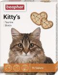 Витаминизированное лакомство для кошек Beaphar Kittys Taurine Biotin с таурином и биотином 75 таблеток