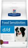 Сухой корм для собак Hills Prescription Diet d/d при пищевой аллергии с уткой 12кг