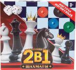 Игровой набор Играем вместе 2в1 Шахматы магнитные