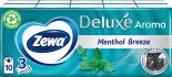 Носовые платки Zewa Deluxe Ментол 3 слоя 10*10шт