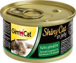Корм для кошек GimCat ShinyCat из цыпленка с ягненком 70г