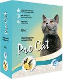 Наполнитель для кошачьего туалета Pro Cat Vanilla комкующийся из экстра белой глины 10кг
