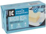 Масло сладко-сливочное Умное решение Традиционное 82.5% 450г