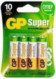 Батарейки GP Super 15A LR6 АА 4шт
