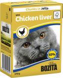 Корм для кошек Bozita Кусочки в желе с куриной печенью 370г
