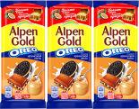 Шоколад Alpen Gold Oreo Молочный с Арахисовой пастой и Печеньем 90г