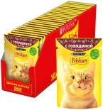Корм для кошек Friskies с говядиной в подливе 85г