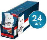 Корм для кошек Gourmet Перл Соус Де-Люкс с говядиной в роскошном соусе 85г