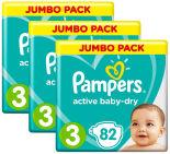 Подгузники Pampers Active Baby-Dry 6–10кг Размер 3 82шт
