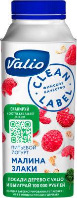 Йогурт питьевой Valio с малиной и злаками 0.4% 330мл