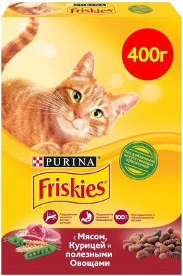 Сухой корм для кошек Friskies с мясом и полезными овощами 400г