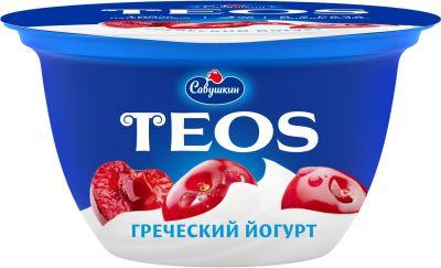 Йогурт Савушкин Греческий Вишня 2% 140г