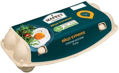 Яйца Маркет Перекресток СО коричневые 10шт