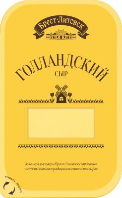 Сыр Брест-Литовск Голландский нарезка 45% 150г