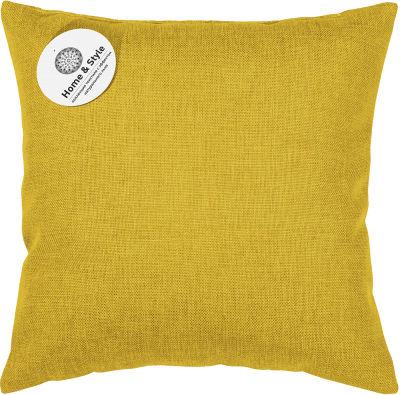 Подушка-думка Home&Style рогожка Горчица 40*40см