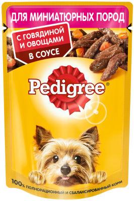 Корм для собак Pedigree с говядиной и овощами в соусе 85г