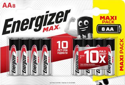 Батарейки Energizer Max + Power Seal AA 8шт