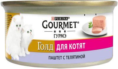 Корм для кошек Gourmet Gold Паштет с Телятиной 85г