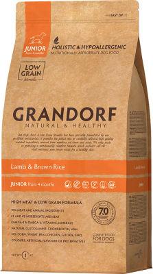 Сухой корм для собак Grandorf Adult junior Ягненок с рисом 1кг