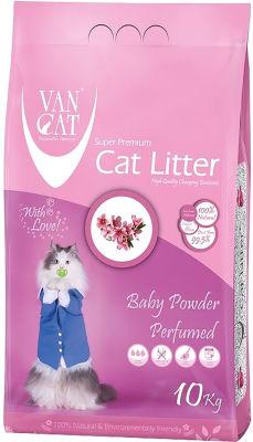 Наполнитель для кошачьего туалета Van Cat Детская присыпка комкующийся 10кг