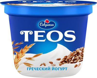 Йогурт Савушкин Греческий Teos Злаки с клетчаткой льна 2% 250г