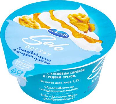Йогурт Экомилк кленовый сироп с грецким орехом 4.2% 130г
