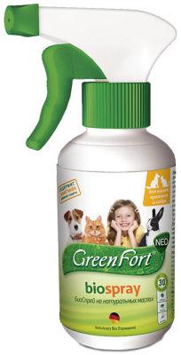 Биоспрей GrennFort от паразитов для животных 200мл