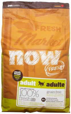 Сухой корм для собак Now Fresh Adult для мелких пород беззерновой с индейкой уткой и овощами 11.35кг