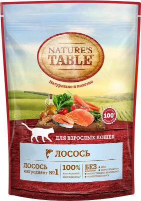 Сухой корм для кошек Natures Table Лосось 190г